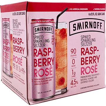 Smirnoff Spiked Sparkling Seltzer Raspberry Rose