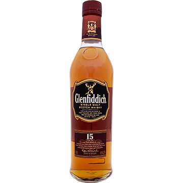 Glenfiddich 15 Year Old Single Malt Scotch Whiskey