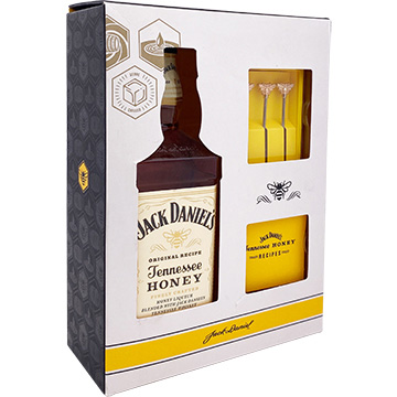 Jack Daniel's Tennessee Honey Liqueur Gift Set with Swizzle Sticks