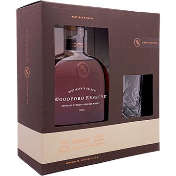 Woodford Reserve Distiller's Select Bourbon Whiskey with Rocks Glass