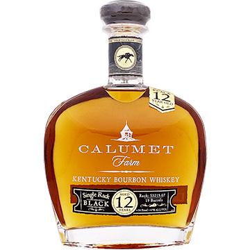 Calumet Farm Single Rack Black 12 Year Old Bourbon Whiskey