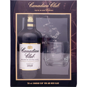 Canadian Club 1858 Blended Canadian Whiskey Gift Set with Glass
