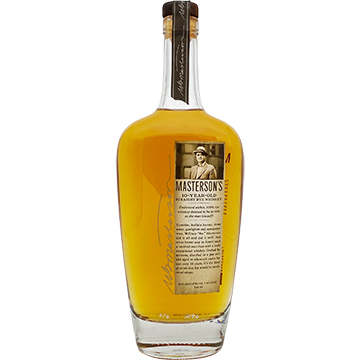 Masterson's 10 Year Old Straight Rye Whiskey