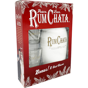 Rum Chata Liqueur Gift Pack with 2 Shot Glasses