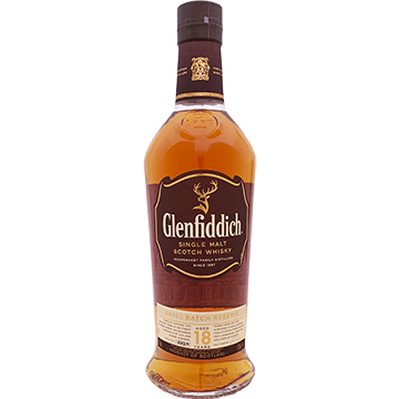 Glenfiddich 18 Year Old Single Malt Scotch Whiskey
