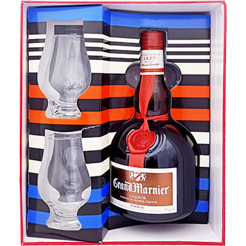 Grand Marnier Cordon Rouge Liqueur Gift Pack with 2 Shot Glasses