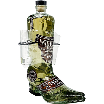Texano Boot Reposado Tequila with Two Glasses
