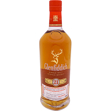 Glenfiddich 21 Year Old Single Malt Scotch Whiskey