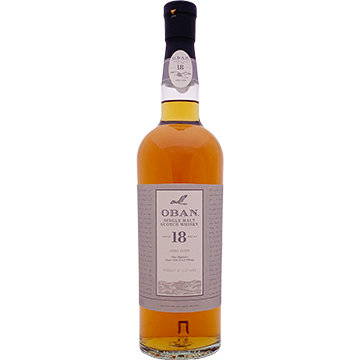 Oban 18 Year Old Single Malt Scotch Whiskey