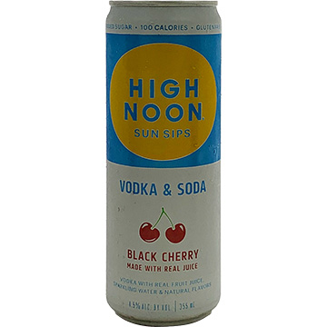 High Noon Sun Sips Black Cherry Vodka & Soda