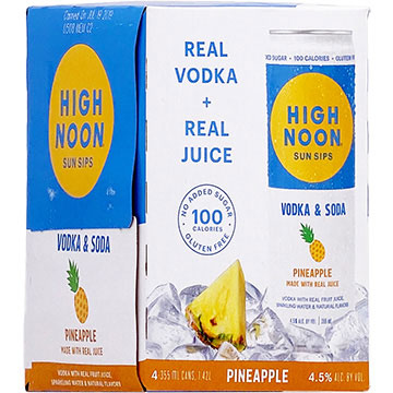 High Noon Sun Sips Pineapple Vodka & Soda