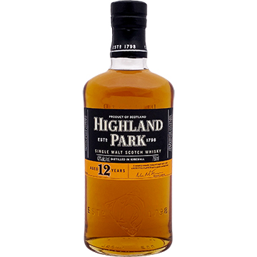 Highland Park 12 Year Old Single Malt Scotch Whiskey