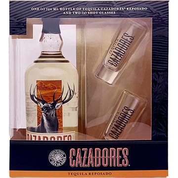 Cazadores Reposado Tequila Gift Pack with 2 Shot Glasses
