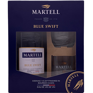 Martell Blue Swift VSOP Cognac Gift Pack with 2 Glasses