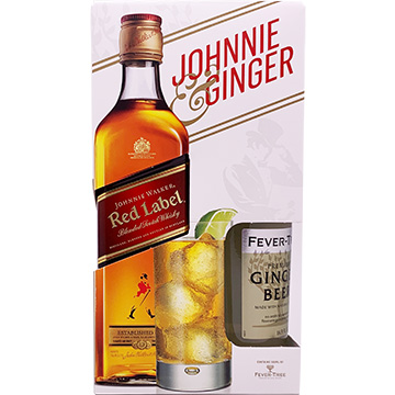Johnnie Walker Red Label Blended Scotch Whiskey with Fever Tree Ginger Beer