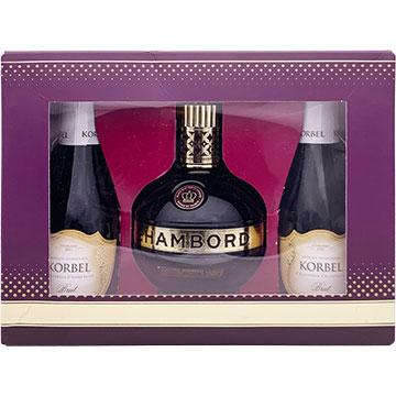 Chambord Liqueur Gift Set with 2 Korbel Brut