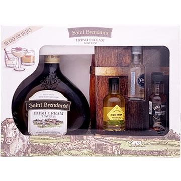 Saint Brendan's Irish Cream Liqueur Gift Set with Three 50ml Miniature