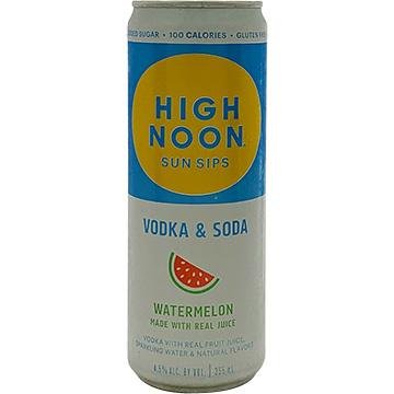 High Noon Sun Sips Watermelon Vodka & Soda