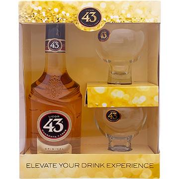 Licor 43 Liqueur Gift Set with 2 Balon Glasses
