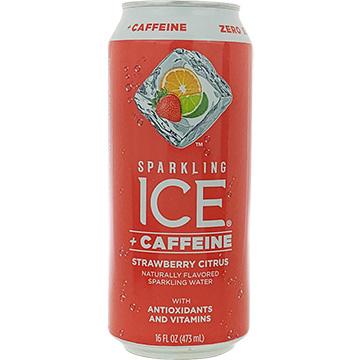 Sparkling Ice + Caffeine Strawberry Citrus Sparkling Water