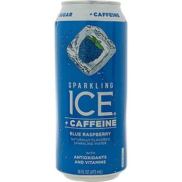 Sparkling Ice + Caffeine Blue Raspberry Sparkling Water