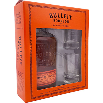 Bulleit Bourbon Whiskey Gift Set with 2 Glasses