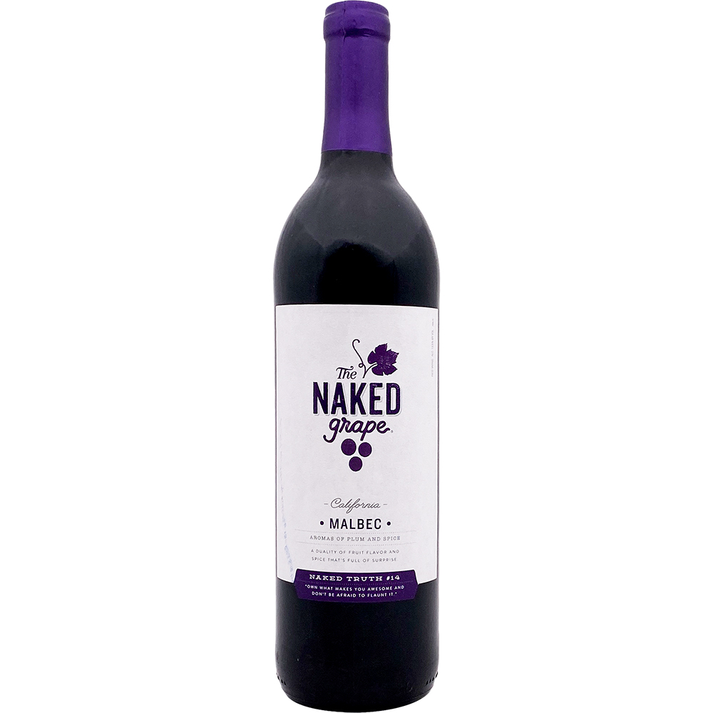 2 BOTTLES OF NAKED GRAPE UNOAKED MALBEC RED WINE