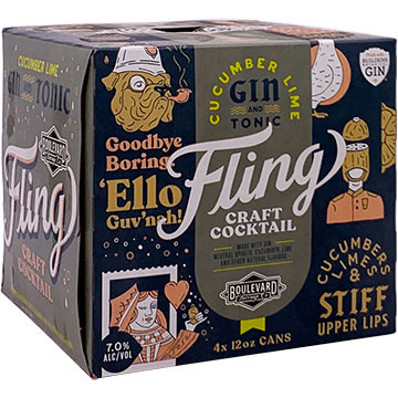 Fling Craft Cocktails Cucumber Lime Gin and Tonic