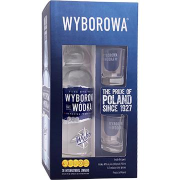 Wyborowa Vodka Gift Pack with 2 Shot Glasses