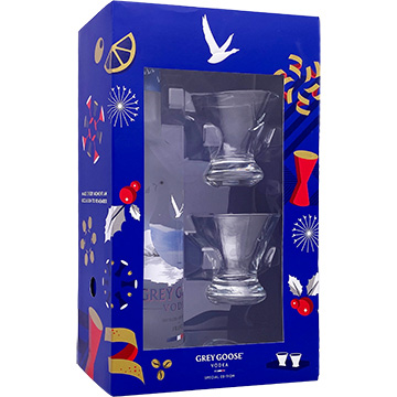 Grey Goose Special Edition Vodka Gift Set with Stemless Martini Glass
