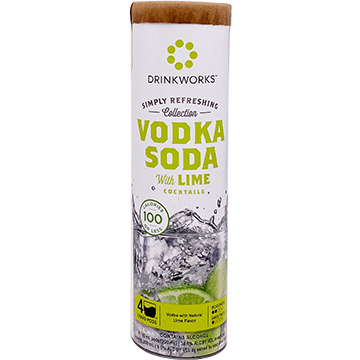 Drinkworks Simply Refreshing Collection Vodka Soda with Lime Cocktail