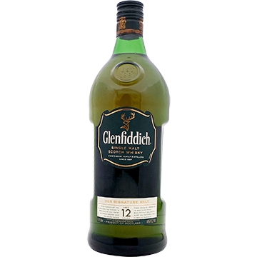 Glenfiddich 12 Year Old Single Malt Scotch Whiskey