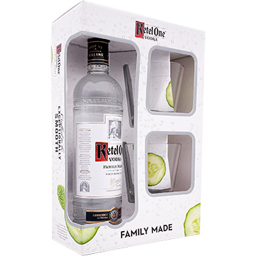 Ketel One Vodka Gift Set with 2 Rock Glasses