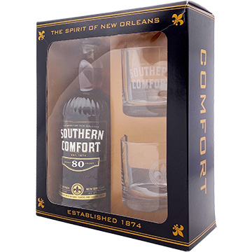 Southern Comfort 80 Proof Liqueur Gift Set with 2 Glasses