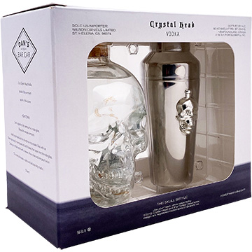 Crystal Head Vodka Gift Set with Cocktail Shaker