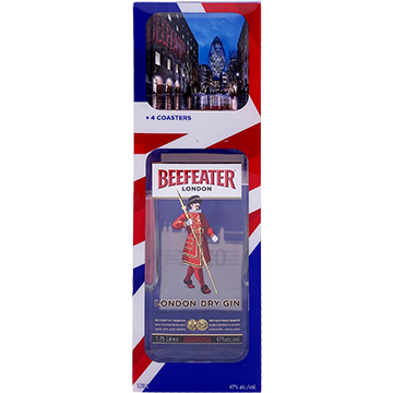 Beefeater London Dry Gin Gift Set Including 4 Coasters