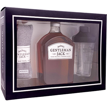 Jack Daniel's Gentleman Jack Whiskey Gift Set with Bar Towel & Shaker
