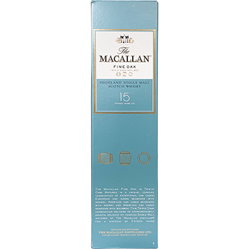 The Macallan 15 Year Old Triple Cask Matured Single Malt Scotch Whiskey with Box
