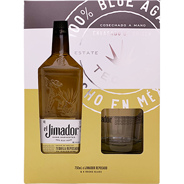 El Jimador Reposado Tequila Gift Set with Rock Glass