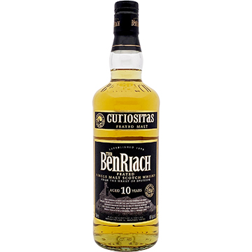 BenRiach Curiositas 10 Year Old Peated Single Malt Scotch Whiskey