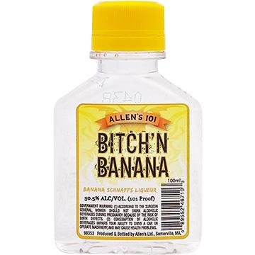 Allen's Bitch'N Banana Schnapps Liqueur