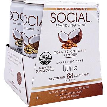 Social Sparkling Wine Toasted Coconut Almond Sparkling Sake
