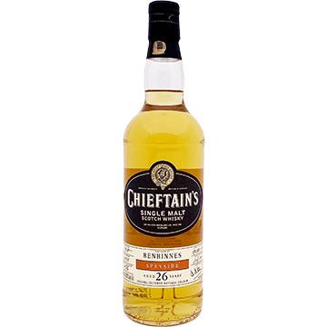 Chieftain's Benrinnes 26 Year Old Speyside Single Malt Scotch Whiskey