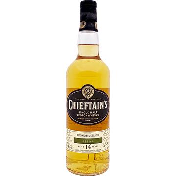 Chieftain's Bunnahabhain Peated 14 Year Old Islay Single Malt Scotch Whiskey
