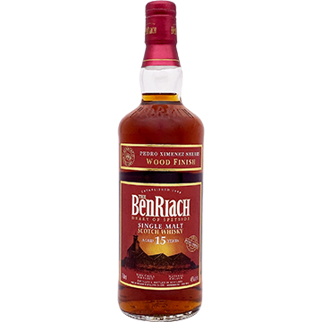BenRiach 15 Year Old Pedro Ximenez Sherry Wood Finish Single Malt Scotch Whiskey