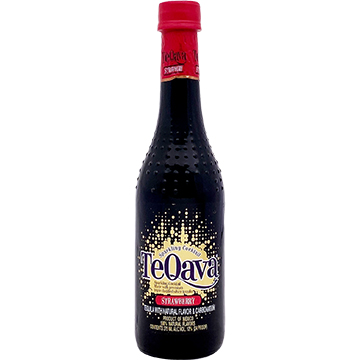 TeQava Sparkling Strawberry Tequila Cocktail
