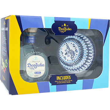 Don Julio Blanco Tequila Gift Set with Guacamole Bowl