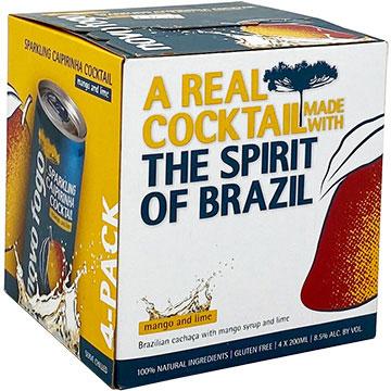 Novo Fogo Sparkling Caipirinha Mango and Lime Cocktail