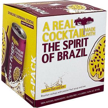 Novo Fogo Sparkling Caipirinha Passion Fruit and Lime Cocktail