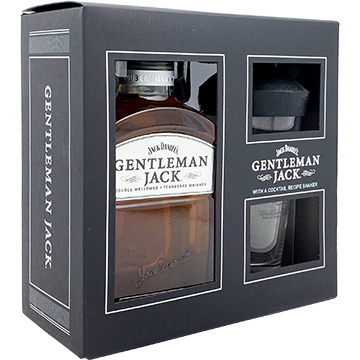 Jack Daniel's Gentleman Jack Whiskey Gift Set with Cocktail Recipe Shaker